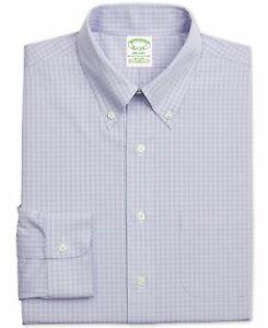 Brooks Brothers Mens Dress Shirt Classic Light Purple Size 16 1/2 $92 409