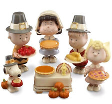 Lenox Peanuts Thanksgiving Pilgrim Figurines 6 PC. Charlie Brown Lucy Snoopy New