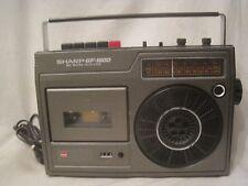 vintage SHARP GF-1600 MIC Mixing / Auto Stop boombox radio cassette *