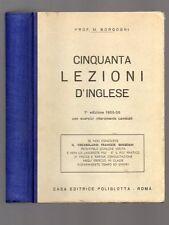 CINQUANTA LEZIONI D'INGLESE del Prof. M. Borgogni