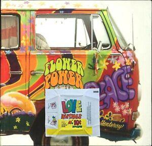 1969 Topps Love Initials 10c Stickers Bubble Gum Wax Wrapper - FCC