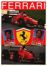 F1 POSTER~Team Ferrari 24x36 Jean Alesi/Gerhard Berger Formula One UK Import NOS