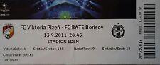 TICKET UEFA CL 2011/12 Viktoria Plzen - Bate Borisov
