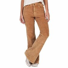 2016 NWT WOMENS VOLCOM WALE WATCHING PANT $80 size 5 bear brown corduroy cord