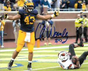 Chris Wormley signed Michigan Wolverines 8x10 Photo #43 (sack vs Fresno State)