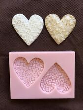 Love & Hearts Silicone Mold for Cake Decorating, Fondant, Gum Paste