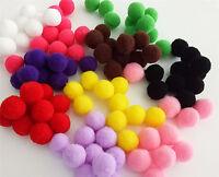 DIY 100pcs Cartoon toy Fluffy ball 10 colour 15mm Children's toys Pom Poms