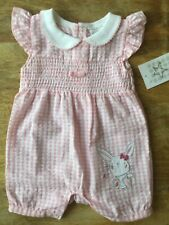 Free Post Girls Pink Smocked Spanish Style Romper  0/3, 3/6, 6/9 Months