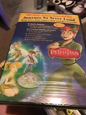 PETER PAN JOURNEY TO NEVER LAND RARE WAL-MART EXCLUSIVE BONUS DISC DVD