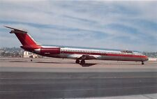 USAIR AIRLINES BURGUNDY MD-80~JUST FLEW FROM _____ TO _____ POSTCARD