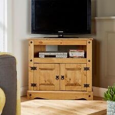 TV Stand Pine 2 Door Television Cabinet Corner Unit Corona Mexican Solid Wood