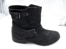 $160 Clarks Collection 8.5M black suede Plaza Float Womens Ankle Boots 26101962