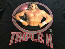 VTG 90s WWF WWE Triple H I Am The Game Double Sided Wrestling Tee T Shirt Large