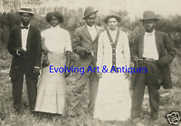 ANTIQUE VINTAGE AFRICAN AMERICAN TIME ARTISTIC VERNACULAR PHOTOGRAPHY RPPC PHOTO