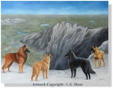 Belgian Shepherd Sheepdog Tervuren Malinois Laekenois Dog Mountains OE Art Print