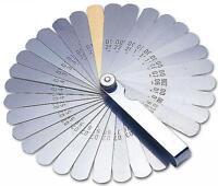 Laser 2481 32 Blade Feeler Gauge Set Imperial Metric Includes Brass Blade