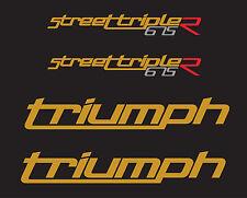 TRIUMPH street triple 675 (2010-12) noir STICKER DECAL MOTO AUFKLEBER