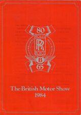 Rolls-Royce Bentley Motorshow 1984 UK Brochure Spirit Mulsanne Corniche Camargue