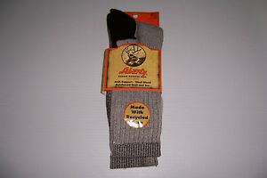 LIBERTY OUTDOOR GEAR 1 PAIR THERMAL WOOL BLEND MEN'S SOCKS SHOE SIZE 6-12.5 NWT!