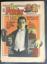 THE MONSTER TIMES #27 (1973) Horror SF Fantasy newspaper (poster intact) VG+