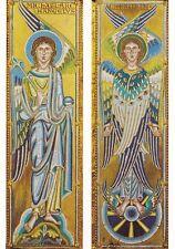 St Pantaleon Cologne Arkangel Michael and Cherub Postcard used VGC
