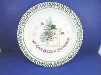 "Lot of 3 We Can Build a Snowman Dinner Plates 10"" in Diameter"