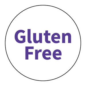 """""""Gluten Free"""" Stickers - Food Allergy Labels - Various Colours and Sizes"""