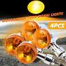 4X Bullet Motorcycle Turn Signal Lamp Blinker Indicator Light Amber Chrome AU