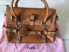 Genuine Gorgeous LUELLA Iconic 'Giselle' Tan Brown Leather Handbag VGC