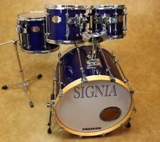 Premier 4pc Signia Drum Kit Shell Pack Sapphire Blue