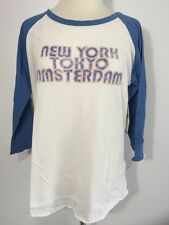 DENIM & SUPPLY Ralph Lauren Women's Tee Top Blouse New York Tokyo Juniors Sz L