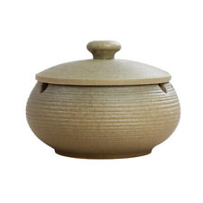 Nordic Style Ashtray Ceramics Ashtray with Lid for Indoor and Outdoor Use