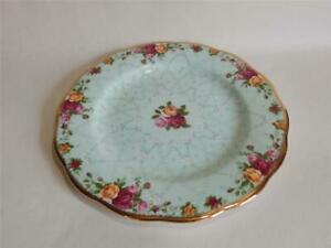 """Royal Albert Old Country Roses Peppermint Damask Dessert Plate 8"""" See backstamp"""