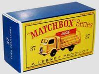 Matchbox Lesney No 37 COCA-COLA LORRY Empty Box Repro style D
