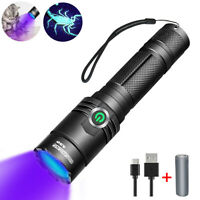 395nm UV Light Blacklight Rechargeable Tactical LED Flashlight 18650 Torch Lamp