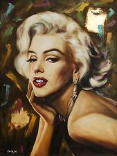 Di CAPRI ORIGINALE dipinto ad olio su tela Marilyn Monroe Ritratto | Black Edition 08
