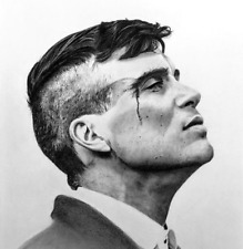 Peaky Blinders Tommy Shelby Printed Wall Art Canvas 16 x 16 Inch Pine Frame