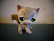Littlest Pet Shop Lps Grey Angora Gray Cat # 20 Green Eyes