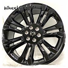 22 Inch Gloss Black Oe Replica 5666 Wheels Fits Ram 1500 2019 2021 6x55 24