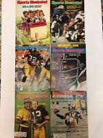 Vintage 1970's Pro Football Sports Illustrated Magazines Lot Of 6