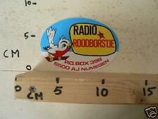 STICKER,DECAL RADIO ROODBORSTJE PO BPX 398 6500 AJ NIJMEGEN PIRATEN ZENDER ?