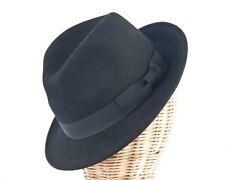 Black mens felt fedora jazz blues brothers hat. Felt Homburg Hat RRP $79