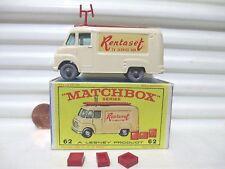 Lesney Matchbox Rare 1962 Cream RW62B TV SERVICE Van RENTASET Decals GPW MintBxd