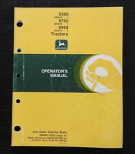 Original John Deere 8560 8760 8960 Tractor Operators Manual Very Good Shape
