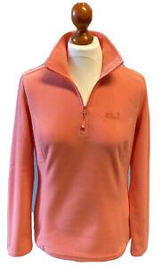 JACK WOLFSKIN*NEU*Gecko Damen Pullover Fleece*1/1A.*orange*65cm*Gr.M*NP 50€