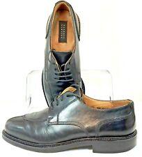 Barneys New York Oxford Mens 9M Black Leather Split Toe Lace Up Dress Shoe Italy