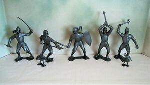 "Set of 5 Marx SP 6"" Knight Bulk Toy Bin Figures - Playset"