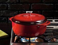 Cooking Dutch Oven Lodge Enamel Cookware Cast Iron Pot Porcelain Skillet 6 Quart