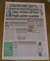 LA GAZZETTA DELLO SPORT N.233 DEL 2 OTTOBRE 1999 - SAN SIRO LIPPI INTER GS10