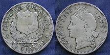 MONETA COIN REPUBLICA DOMINICANA 12½ GRAMOS MEDIO PESO 1897 SILVER ARGENTO